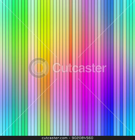 Bright vibrant multicolored abstract graduated stripes. stock photo, Bright vibrant multicolored abstract graduated stripes. by Stephen Rees