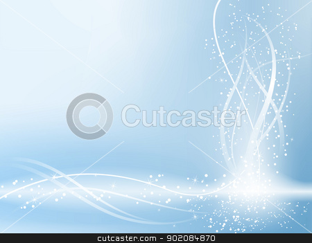 Blue Beautiful Pastel Background with stars and swirls.  stock vector clipart, Blue Beautiful Pastel Background with stars and swirls. Editable Vector Image by Augusto Cabral Graphiste Rennes