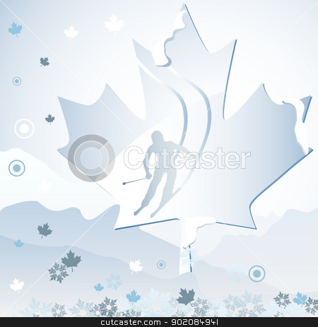 Canada Winter Games stock vector clipart, Canada Vancouver Winter Games 2010. Editable Vector Illustration by gubh83