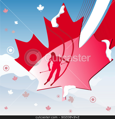 Canada Vancouver Winter Games 2010 stock vector clipart, Canada Vancouver Winter Games 2010. Editable Vector Illustration by gubh83