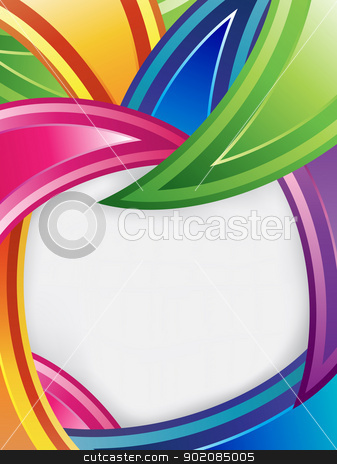 Colorful Design stock vector clipart, Colorful design with text frame by AUGUSTO CABRAL