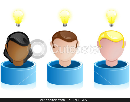 Creativity Network Crowdsourcing stock vector clipart, Vector - Creativity Network Crowdsourcing by AUGUSTO CABRAL