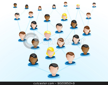 Crowdsourcing Network Icons stock vector clipart, Vector - Crowdsourcing Network Icons by AUGUSTO CABRAL