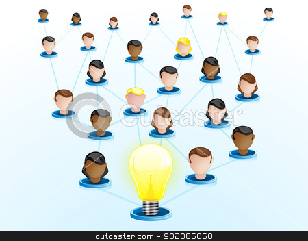 Creativity Network Crowdsourcing stock vector clipart, Vector - Creativity Network Crowdsourcing by gubh83