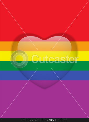 Heart Glass Buttons Gay Flag stock vector clipart, Vector - Heart Glass Buttons Gay Flag by gubh83
