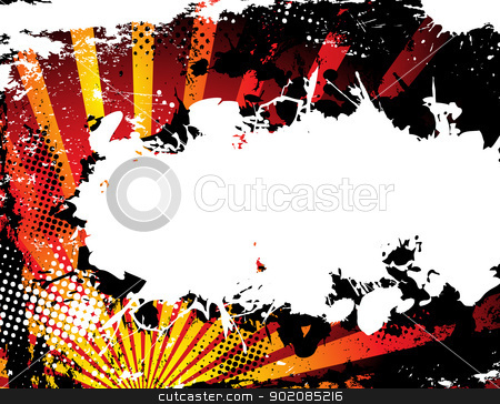 Abstract Grunge Halftone Background in orange. stock vector clipart, Abstract Grunge Halftone Background in orange. Vector Image. by AUGUSTO CABRAL