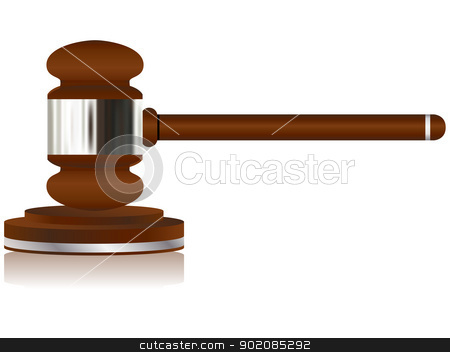 Wooden Justice Gavel stock vector clipart, Vector - Wooden Justice Gavel by gubh83