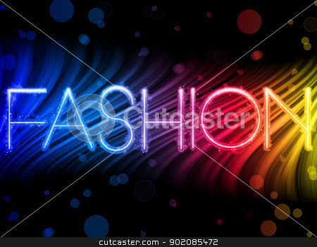 Fashion Abstract Colorful Waves on Black Background stock vector clipart, Vector - Fashion Abstract Colorful Waves on Black Background by gubh83