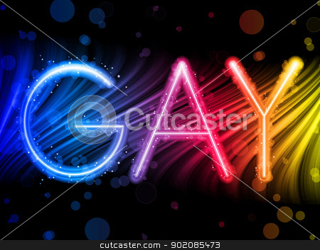 Gay Pride Abstract Colorful Waves on Black Background stock vector clipart, Vector - Gay Pride Abstract Colorful Waves on Black Background by gubh83