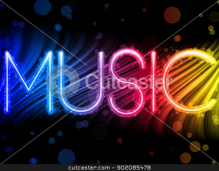 Music Party Abstract Colorful Waves on Black Background stock vector clipart, Vector - Music Party Abstract Colorful Waves on Black Background by AUGUSTO CABRAL