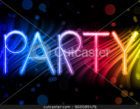 Party Abstract Colorful Waves on Black Background stock vector clipart, Vector - Party Abstract Colorful Waves on Black Background by Augusto Cabral Graphiste Rennes