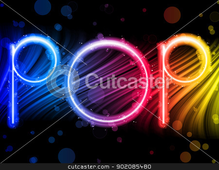 Pop Music Party Abstract Colorful Waves on Black Background stock vector clipart, Vector - Pop Music Party Abstract Colorful Waves on Black Background by gubh83