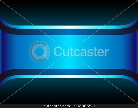 Blue Neon Background with Copyspace. stock vector clipart, Blue Neon Background with Copyspace. Editable Vector Illustration by gubh83