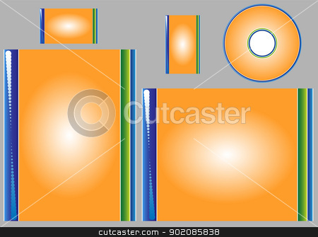 Template stock vector clipart, Template for business card, letter and cd. Add your logo and text by Augusto Cabral Graphiste Rennes
