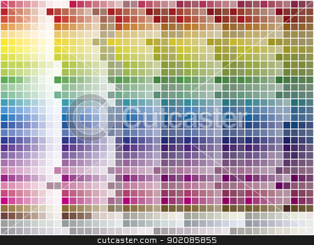 Color Palette Tiled Background stock vector clipart, Color palette tiled background. Vector Image. 1200 different colors. by AUGUSTO CABRAL