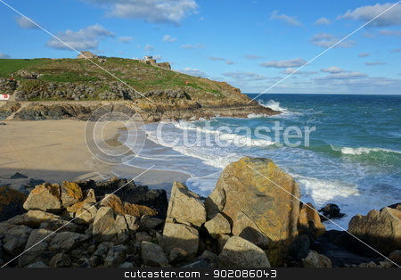 Porthgwidden Beach in St. Ives, Cornwall. stock photo, Porthgwidden Beach in St. Ives, Cornwall. by Stephen Rees