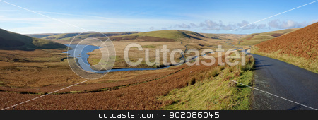 River Elan flowing in to Craig Goch reservoir, Elan Valley Wales. stock photo, River Elan flowing in to Craig Goch reservoir, Elan Valley Wales. by Stephen Rees