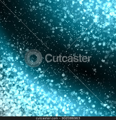 blue abstract light background stock photo, Blue colour bokeh abstract light background. Illustration by Sergey Nivens