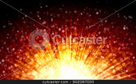 Red abstract light background stock photo, Red colour bokeh abstract light background. Illustration by Sergey Nivens