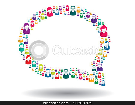 bubble of communication stock vector clipart, bubble of communication in illustration vector by Aurelio Scetta