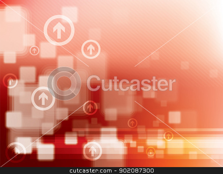 Abstract red technical background stock vector clipart, Abstract red technical background in vector illustration by Aurelio Scetta