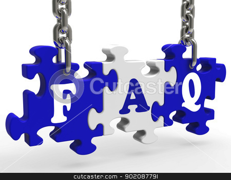 FAQ Means Frequently Asked Questions stock photo, FAQ Meaning Frequently Asked Questions Information And Answers by stuartmiles