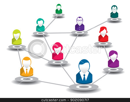 people in social network stock vector clipart,  vector illustration of people in a social network by Aurelio Scetta