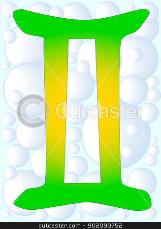 Gemini stock vector clipart, The astrological symbol for the sun sign Gemini by Kotto