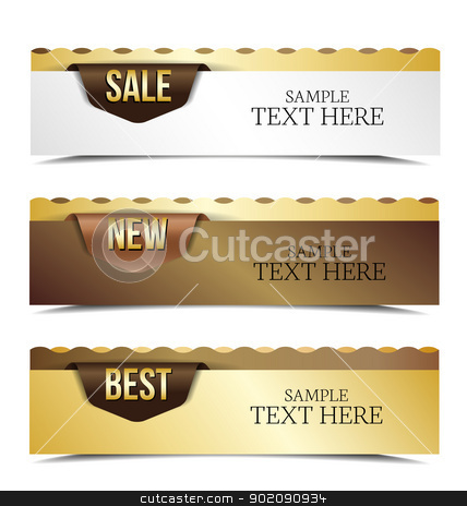 banner  stock vector clipart, Vintage banners retro style set. Vector design elements. by Miroslava Hlavacova