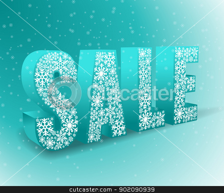 sale stock vector clipart, blue background for winter sale by Miroslava Hlavacova