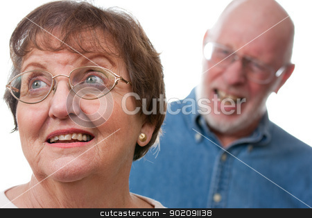 Senior Couple in an Argument stock photo, Angry Senior Couple in a Terrible Argument by Andy Dean
