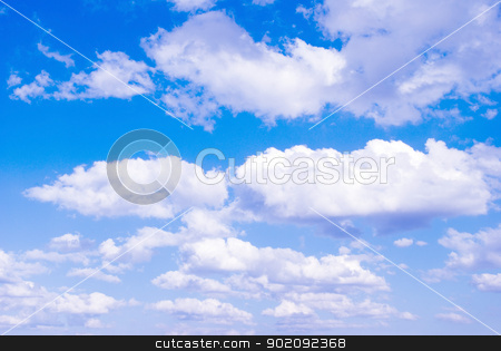 Sky background stock photo, Blue Sky background with tiny clouds by Vitaliy Pakhnyushchyy