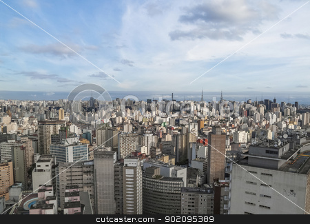 central sao paulo in brazil stock photo, central sao paulo in brazil by travelphotography