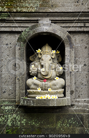 ganesh hindu god in bali indonesia stock photo, ganesh hindu god figure in bali indonesia temple by travelphotography
