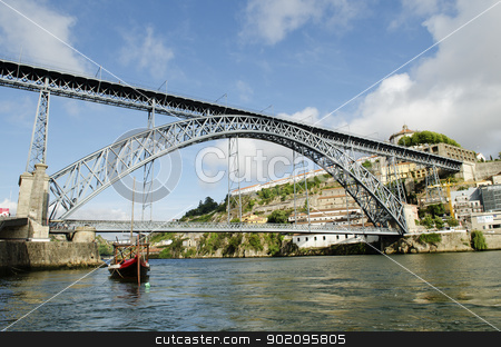 dom luis bridge in porto portugal stock photo, dom luis bridge in porto portugal by travelphotography