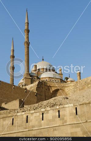 mosque in citadel of cairo egypt stock photo, mosque in citadel of cairo egypt by travelphotography