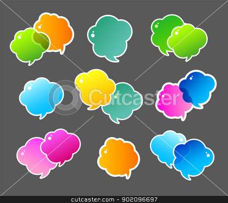 Color speech bubbles stock vector clipart, Vector illustration of Color speech bubbles by SonneOn