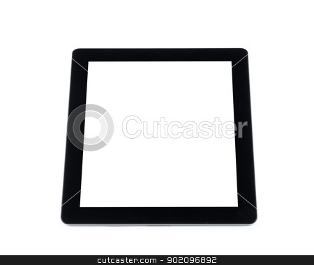 tablet computer  stock photo,  tablet computer isolated on white by Vitaliy Pakhnyushchyy