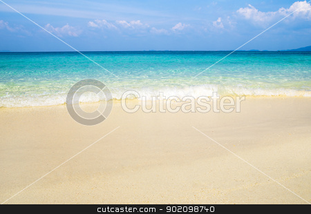 beautiful beach stock photo, beautiful beach and tropical sea by Vitaliy Pakhnyushchyy