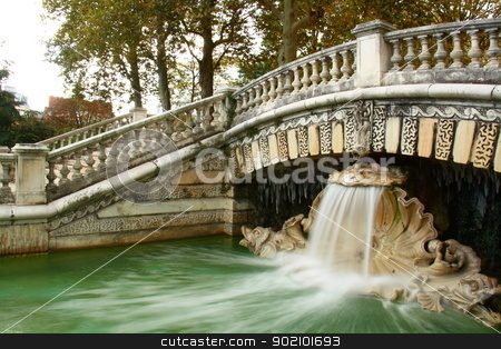 mossel fountain in darcy park stock photo, darcy park fountain while working in Dijon city of France by melih turhanlar