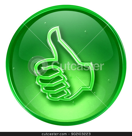 thumb up icon green, approval Hand Gesture, isolated on white b stock photo,  thumb up icon green, approval Hand Gesture, isolated on white background. by Andrey Zyk