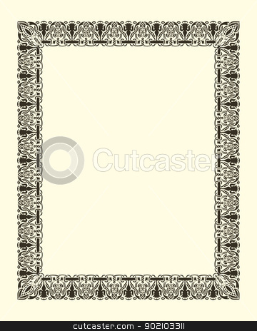 ornamental  frame vintage stock vector clipart, ornamental  frame vintage in editable vector file by paulrommer
