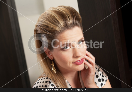 Lady With Retro Hairdo stock photo, Beautiful young woman with retro style hairdo by Scott Griessel