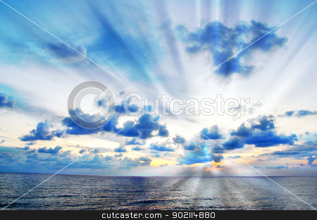 landscape stock photo, Fantastic sunset over the sea   by Vitaliy Pakhnyushchyy