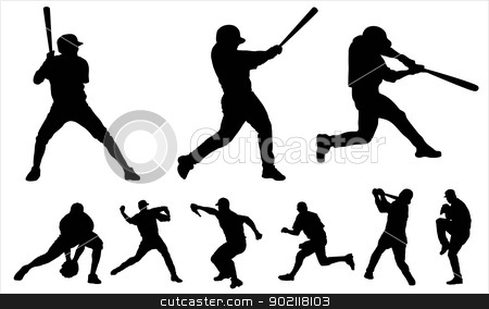 Baseball stock vector clipart, Baseball by Ludvik Pospisil