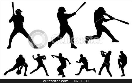Baseball stock vector clipart, Baseball by Ludvik Pospisil