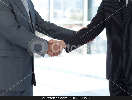 Handshake in agreement stock photo, Handshake in agreement in business by Wavebreak Media