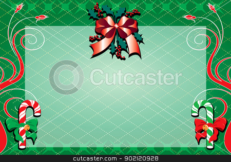 Christmas Background 2 stock photo, Vector Illustration of a decorative Christmas Background. Christmas Background 2 by Basheera Hassanali