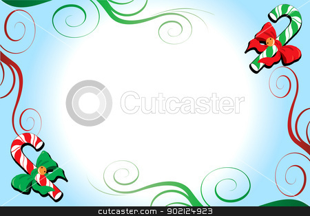 Christmas Background 5 stock photo, Vector Illustration of a Christmas Background with candy canes. by Basheera Hassanali