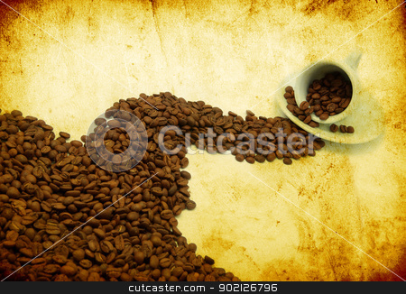 coffee;  stock photo, grunge background with space for text or image by Vitaliy Pakhnyushchyy